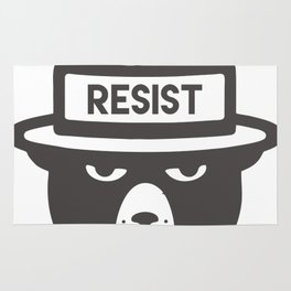 Bear Hat is Resist Rug