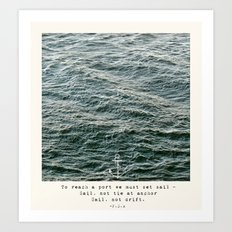Set Sail (Franklin Delano Roosevelt Quote) Art Print
