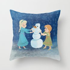 Do You Want To Build A Snowman? Throw Pillow