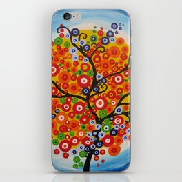 bright tree art -brazillian tree brazil , brasil , modern painting of a tree iPhone Skin