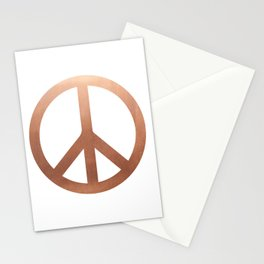 Copper Peace sign Stationery Cards