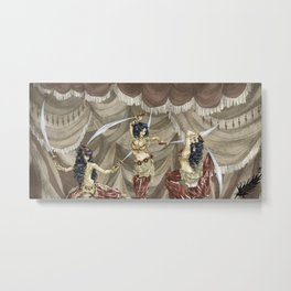 Midnight Circus: Sword Dancers Metal Print