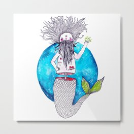 Merman of the Universe Metal Print