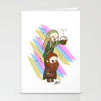 legolas Stationery Cards featuring Party Legolas and Gimli  by BlacksSideshow