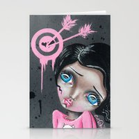 chicago bulls Stationery Cards featuring Bulls Eye by Lizzy Love