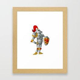 Cartoon knight. Framed Art Print