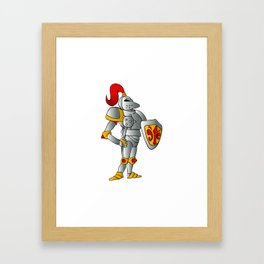 Cartoon knight. Framed Art Print
