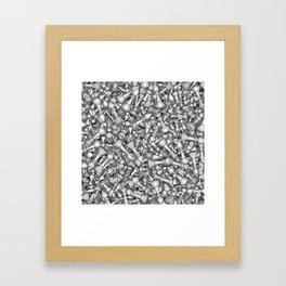 Blitz Chess B&W Framed Art Print