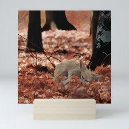 When a little fox sleeps Mini Art Print