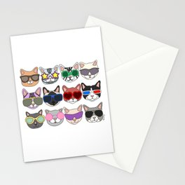 Hollywood Cats Stationery Cards