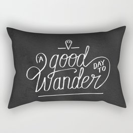 Good Day to Wander Rectangular Pillow