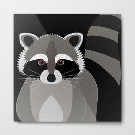 Raccoon in the Night Metal Print