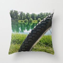 Nice day for a ride Throw Pillow