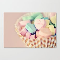 Je T'aime Valentine Canvas Print