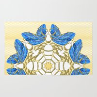 bees Area & Throw Rugs featuring Heavenly Bees by Lorelei Douglas