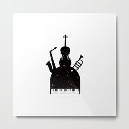 Jazz in the space Metal Print
