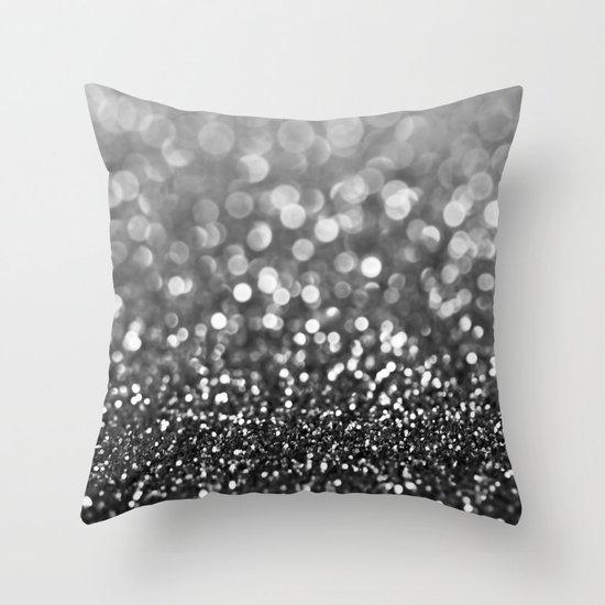 Throw Pillows With Sparkle : Ebony Sparkle Throw Pillow by Tangerine-Tane Society6
