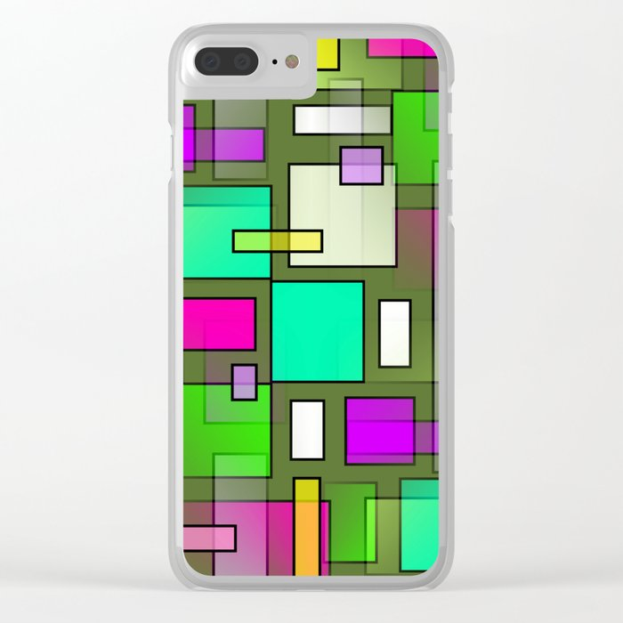 Color Structure Clear iPhone Case
