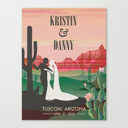 Tuscon Wedding Poster Canvas Print