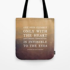 IV. Anything essential is invisible to the eyes. Tote Bag