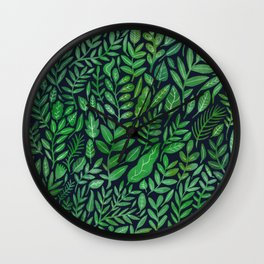 All the Greens Wall Clock