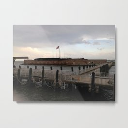 Fort Sumter From the Ferry Metal Print