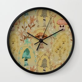 Astral-Shrooms Wall Clock