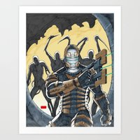 dead space Art Prints featuring Dead Space by J. J.