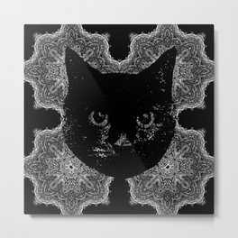 Amoeba Quad Cat Metal Print