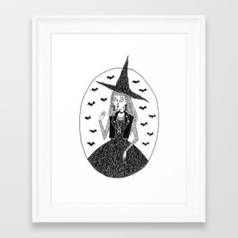 Goth/Punk Witch Framed Art Print