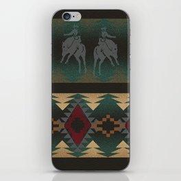 southwest stripe with horses iPhone Skin