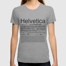 Helvetica (Black) T-shirt