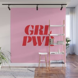 Girl Power GRL PWR Wall Mural