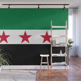 Independence Flag of Syrian, High quality Wall Mural