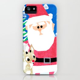 Santa and Rudolph iPhone Case