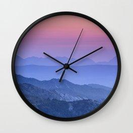 """""""Mountain dreams"""". At sunset. Wall Clock"""