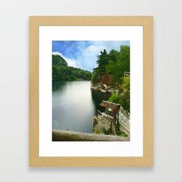 Majestic Mohonk Lake Framed Art Print