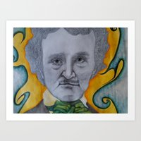 edgar allen poe Art Prints featuring Poe by dillpickledoe