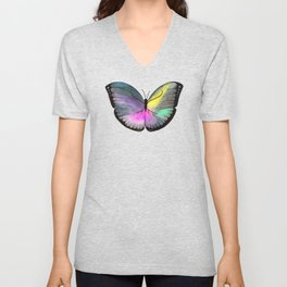 Space Butterfly Unisex V-Neck