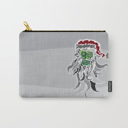 Zombie (Santa) Claus Head Carry-All Pouch
