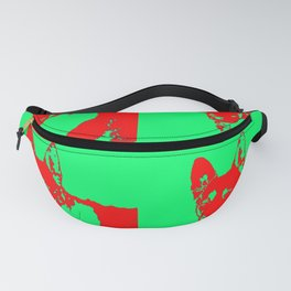 red Mitzi on green Fanny Pack