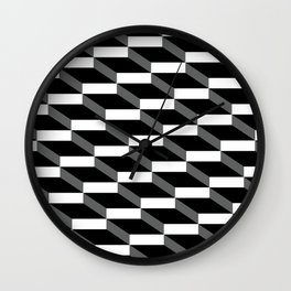 3d wall of cubes and shadows Wall Clock