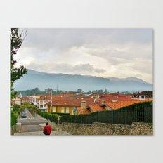Fog in Llanes, Spain Canvas Print