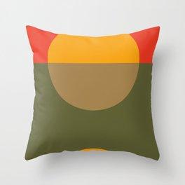 Spring- Pantone Warm color Throw Pillow