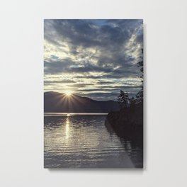 idaho lake sunset Metal Print