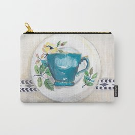 Turquoise teacup Carry-All Pouch