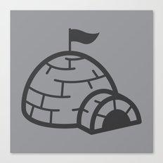 gray igloo Canvas Print