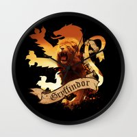 gryffindor Wall Clocks featuring Gryffindor by Markusian