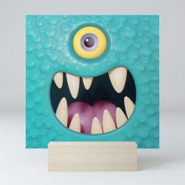 Cartoony monster face Mini Art Print