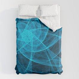 Tulles Star Computer Art in Blue Duvet Cover